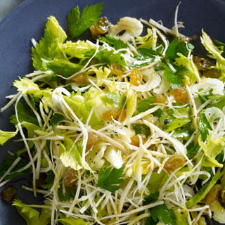 Celery Root, Celery Heart and Celery Leaf Salad
