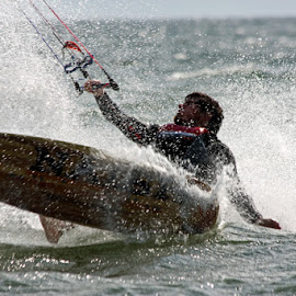 Kiteboarding by Carol Cooper - Sports & Fitness Other Sports ( water, sports, fun, people, kiteboarding )