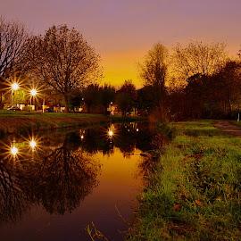 Autumn sunset by Niccolò Pons - City,  Street & Park  City Parks (  )