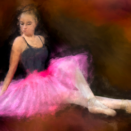 Degas Pink by Marie Otero - Digital Art People ( www.lostaussie.com, model, female, corel, degas, ballerina, painting, dance, otero )