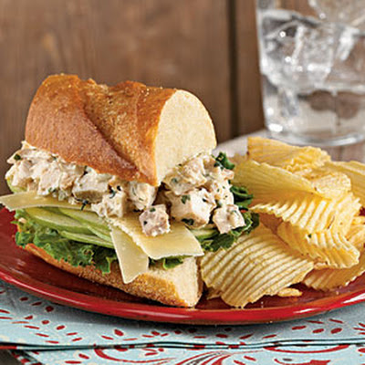 Tarragon Chicken Salad Sandwiches with Apple