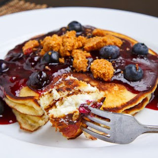 Blueberry Cheesecake Pancakes