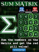 Screenshot of Sum Matrix Numbers Puzzle