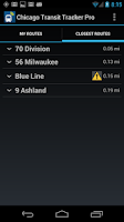 Screenshot of Chicago Transit Tracker Pro
