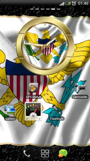 US Virgin Islands flag clocks