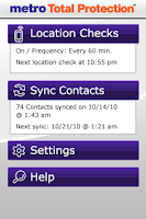 Screenshot of Metro Total Protection App