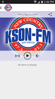 Screenshot of KSON-FM San Diego Country