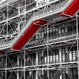 Diagonal at Beaubourg by Almas Bavcic - Buildings & Architecture Architectural Detail