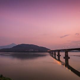 Pakse, Laos by Tim Pryce - Landscapes Travel ( laos, sunset, mekong, pakse, dusk, river )