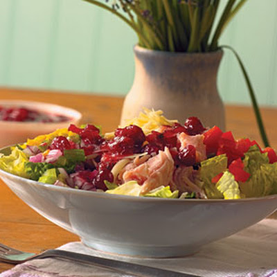 Turkey Cobb Salad with Cranberry Vinaigrette