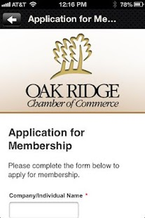 Oak Ridge Chamber of Commerce - screenshot
