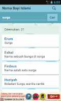 Screenshot of Nama Bayi Islami & Muslim