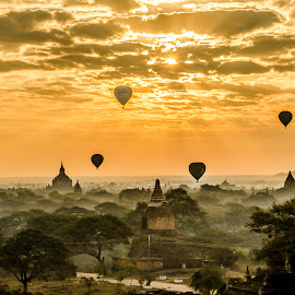 Sunrise in Bagan, Myanmar by Khun Myo Than Htun - Landscapes Sunsets & Sunrises