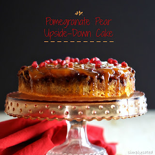 Pomegranate Pear Upside-Down Cake