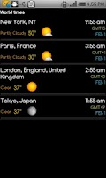 Screenshot of World clock & weather