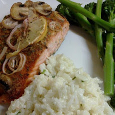 Baked Trout with Garlic & Mushrooms