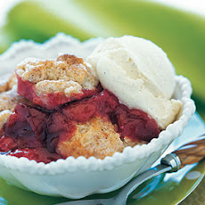 Plum Cobbler with Cinnamon Biscuits
