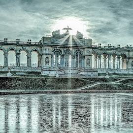 frozen Gloriette in Vienna by Horst Winkler - Buildings & Architecture Public & Historical ( wien, vienna, building, winter, hdr, ice, sundown, gloriette, architecture, evening, austria, österreich,  )