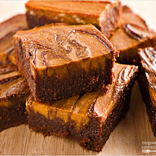 Fudgy Pumpkin-Cream Cheese Brownies