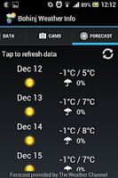 Screenshot of Bohinj Weather Info
