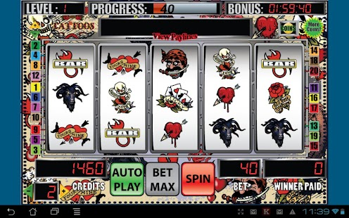 Mega tattoo slot machine android free app store for Fishing bob slot machine