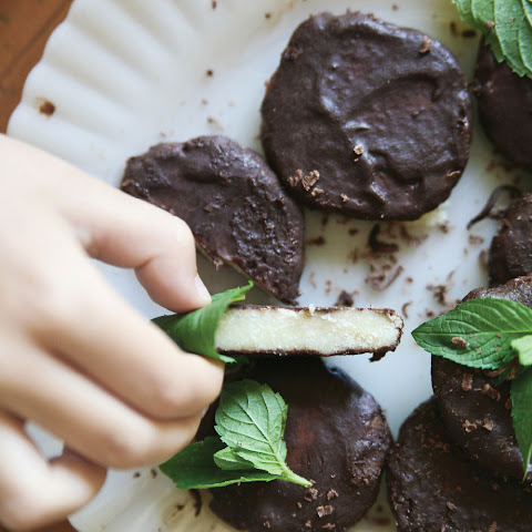 Raw, Dark Chocolate Thin Mint Candy