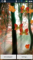 Screenshot of Fall Leaf Butterflies Live