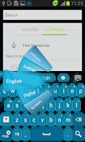 Screenshot of Blue Fancy GO Keyboard