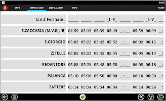 Screenshot of Water Bus Timetables Venice