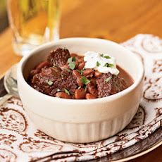 Ancho, Beef, and Kidney Bean Chili