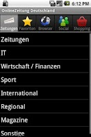 Screenshot of OnlineZeitung Deutschland