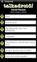 Screenshot of Talkadroid