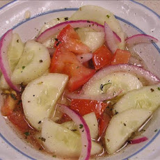 Easy Cucumber Salad W/ Red Wine Vinaigrette