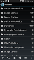 Screenshot of CLZ Comics - Comic Database