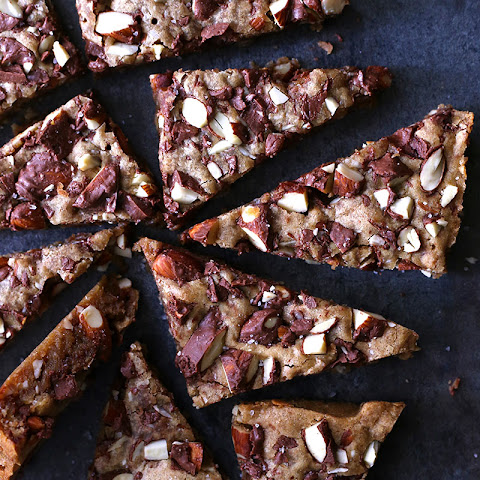 Chocolate Spiced Almond Blondies