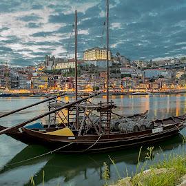 Barco Rabelo by Fernando Cordeiro - City,  Street & Park  Vistas ( wine, gaia, boats, river, porto )