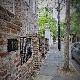 Historical Charleston by Lauren Curtis - City,  Street & Park  Historic Districts ( brick, neighborhood, buildings, historic, sidewalk )