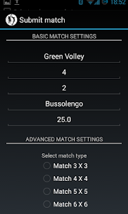 VolleyMatchMaker - screenshot