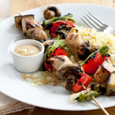 Mustard Chicken and Bell Pepper Kabobs
