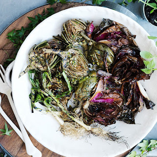 Grilled Artichokes and Radicchio with Gremolata