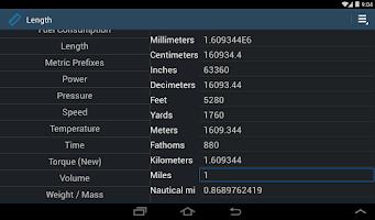Screenshot of Simply Convert Units Pro