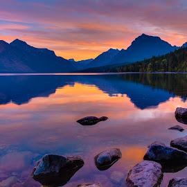 Dawn at Lake McDonald by Adam Mateo Fierro - Landscapes Sunsets & Sunrises ( national park, adam mateo fierro, dawn, lake mcdonald, west glacier, infinite grandeur fine art photography, montana, sunrise, glacier national park )
