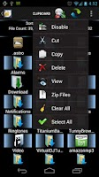 Screenshot of Shady File Manager (root)