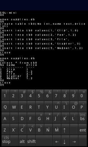 SQL-mini