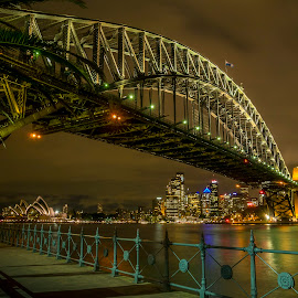 Emerald City by Tim Searle - Travel Locations Landmarks ( skyline, sydney harbour bridge, australia, night, emerald city, glow, opera house, sydney, city, nightcape )