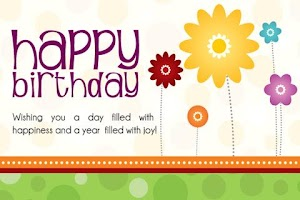 Screenshot of Birthday Card