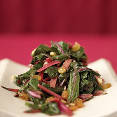 Sauteed Swiss Chard with Raisins and Pine Nuts