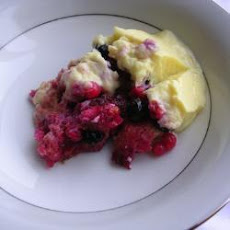 Redcurrant And Blueberry Trifle With Lemon Custard