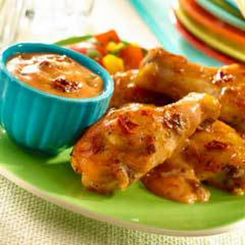 Guava Chipotle Wings With Creamy Dipping Sauce