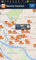 Screenshot of cambio CarSharing